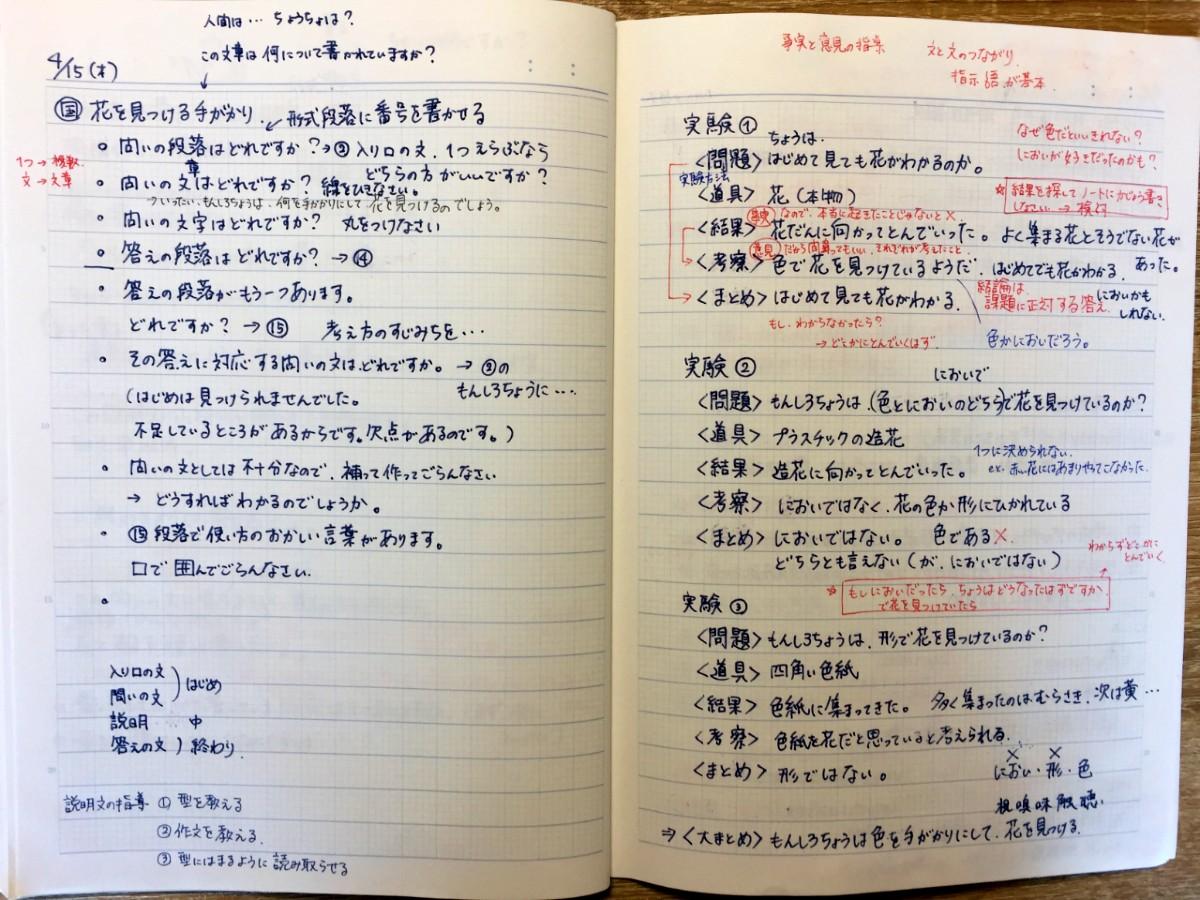 教材研究のノート