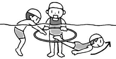 イルカジャンプ(輪くぐり)リレー