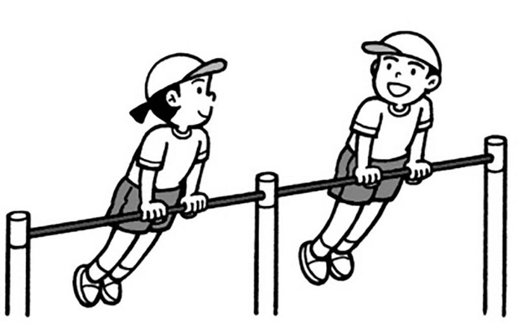 小3体育「器械運動(鉄棒運動)」
