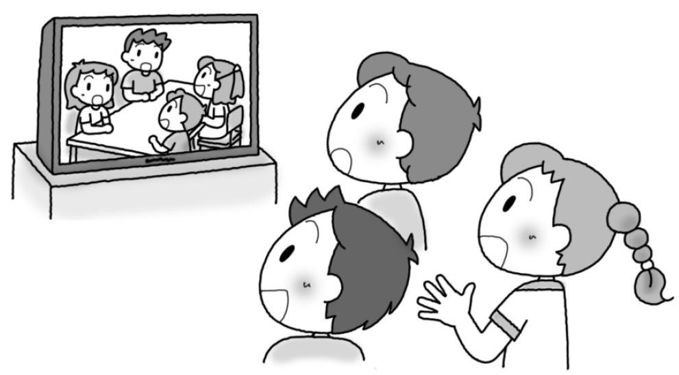 話合いの様子をデジタル機器で撮影していて、見せることなどしても効果的でしょう。