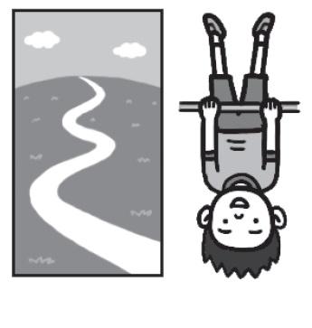 逆の漢字を図で示したイラスト