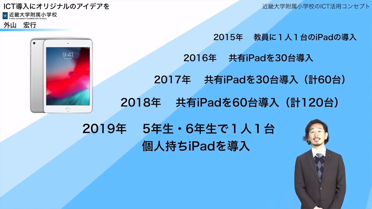 外山先生:iPad導入