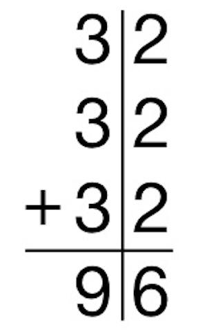 B素朴に解いている子 筆算