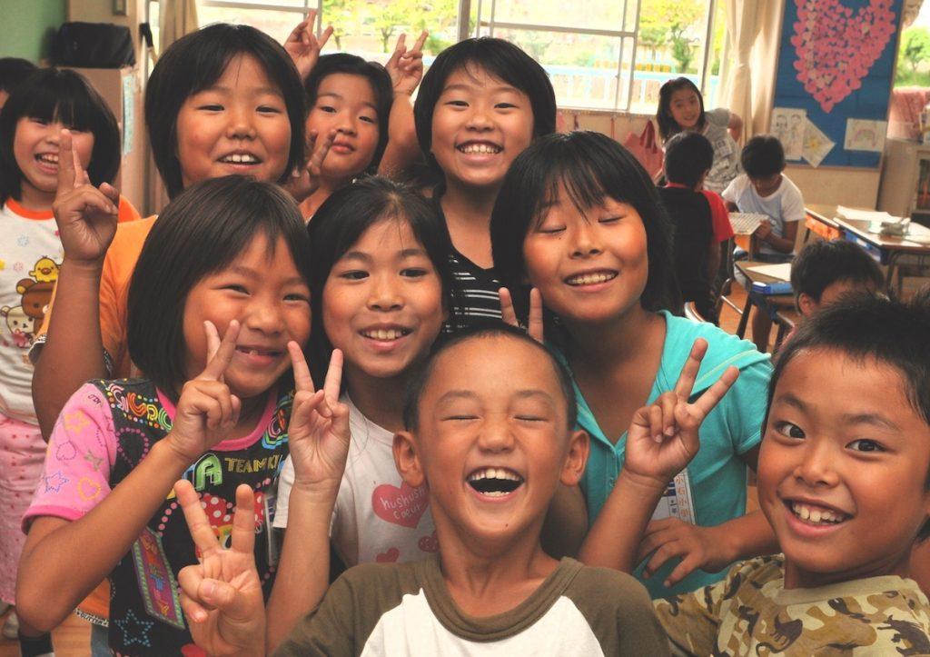 笑顔の子供集合