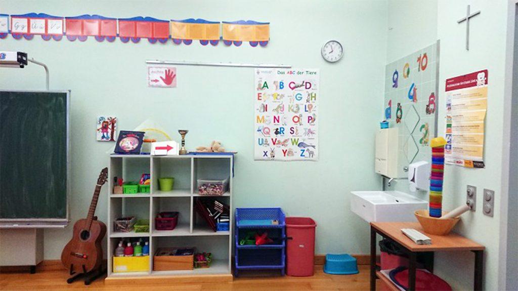 写真4:教室内の手洗い場
