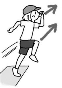 力強い踏み切りをつくる膝の動き