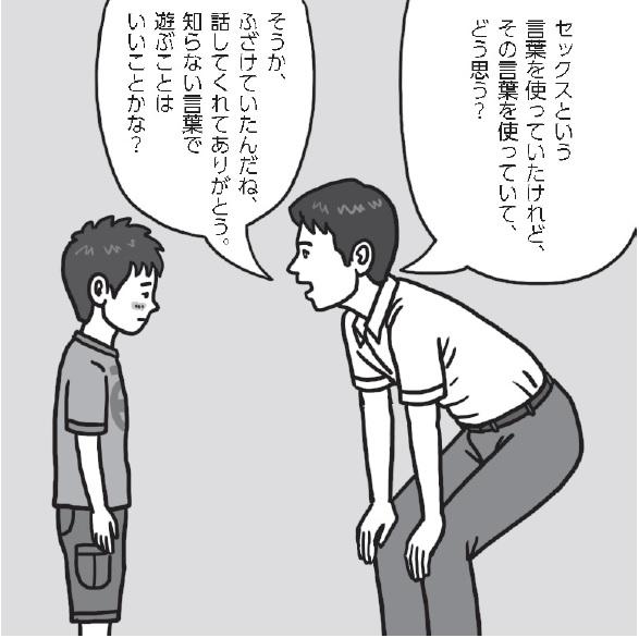 個別に声をかけ、「あなたはその言葉をそのように使ってどう思うの?」と問い、その子自身に考えさせてみることが有効です。