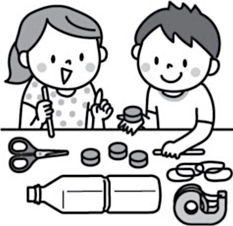 動くおもちゃを作る子供たち