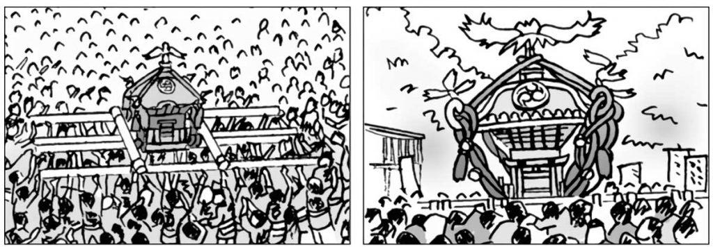 深川八幡祭りの様子