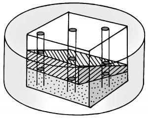 ボーリング資料と地層のイメージ図
