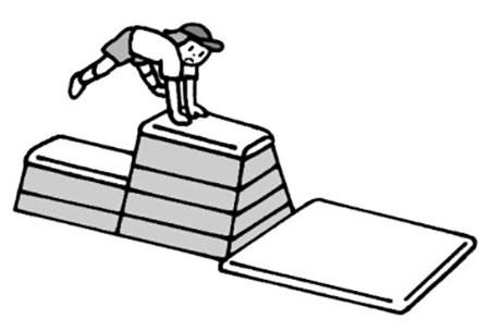②跳び箱を生かして 体重移動の感覚を身に付ける