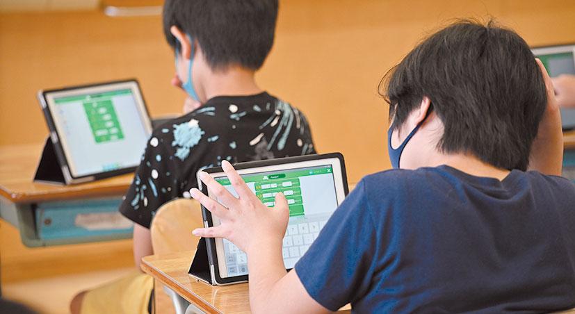 学習したことを組み合わせて自由にプログラミングに挑戦する。