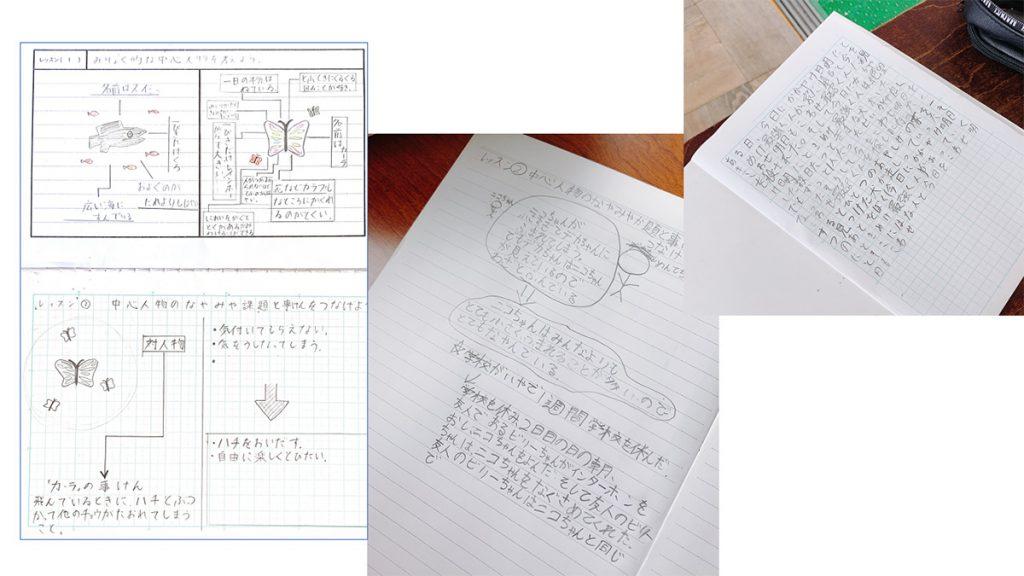 子供の「作家ノート」の例