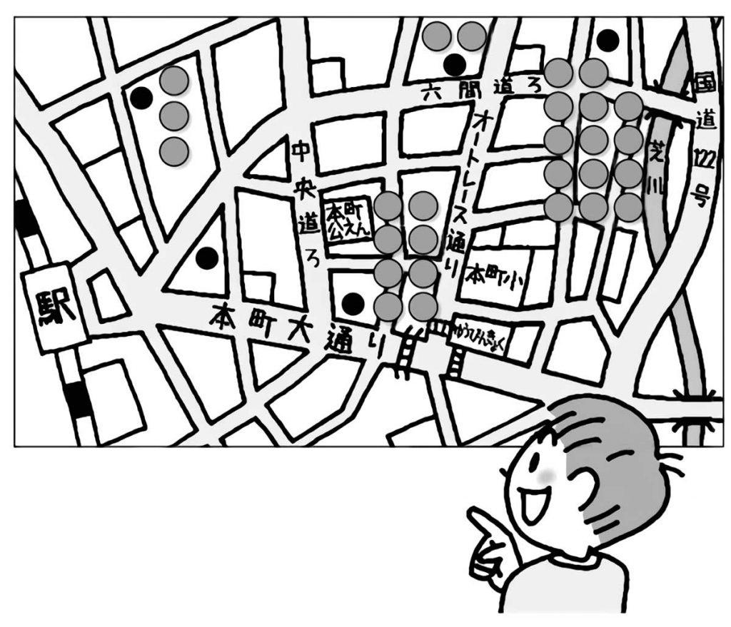学区の地図