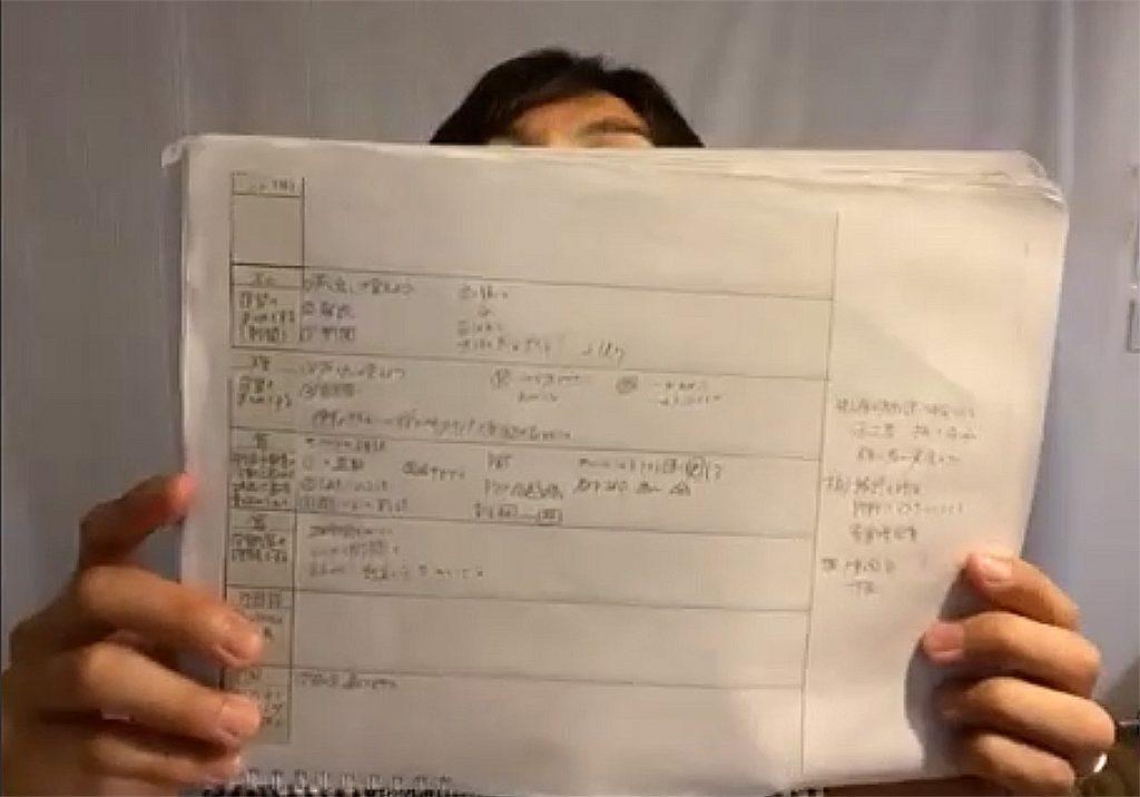 髙橋教諭のノート