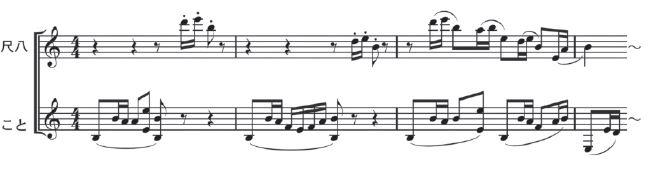 尺八こと1 春の海楽譜