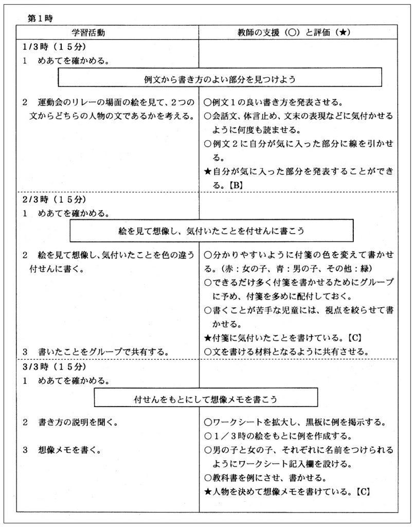 (資料2)四年生のモジュール授業の指導案