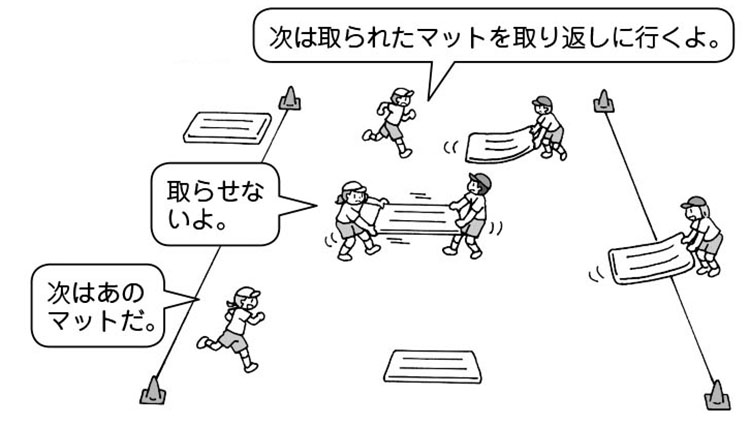 【マット引き競争】
