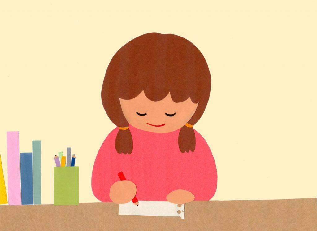 小4国語「お願いやお礼の手紙を書こう」指導アイデアのイメージイラスト