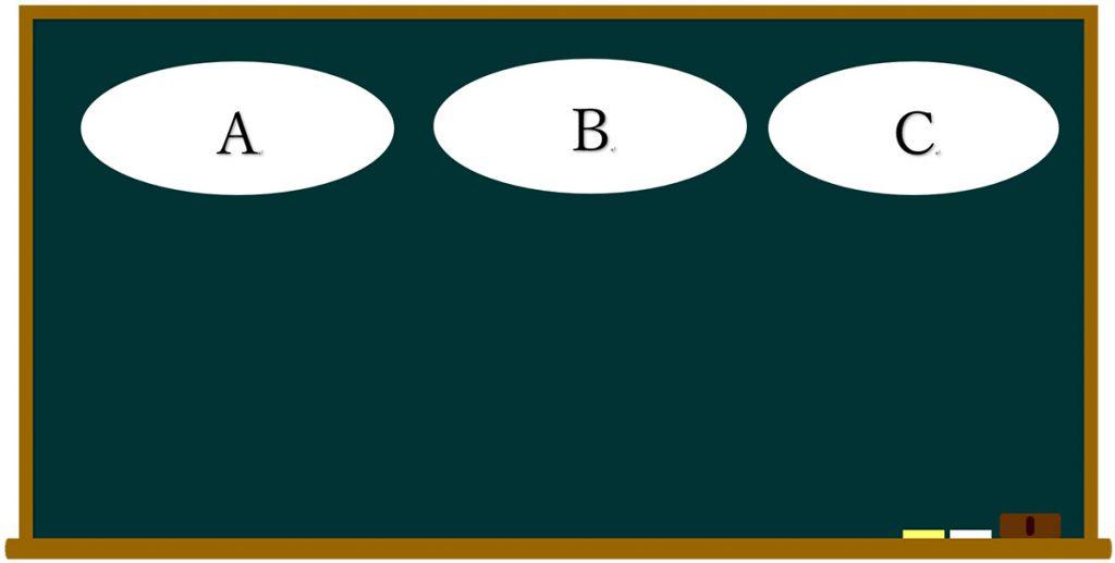 算数の板書の型
