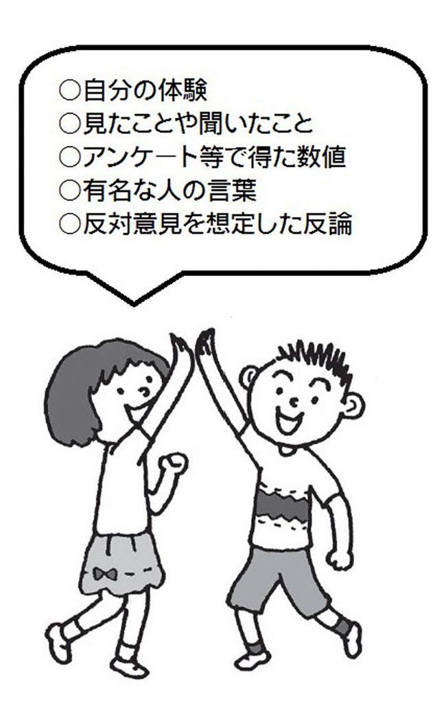 子供は「読み手を納得させる工夫」を次のようにまとめています。