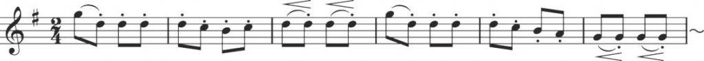 B部の音楽 ハンガリー楽譜