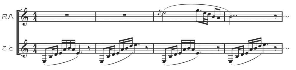 尺八こと3 春の海楽譜