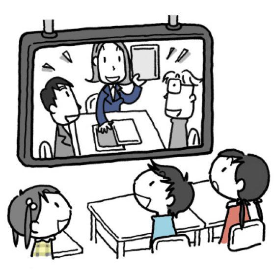 教師による読書会の例