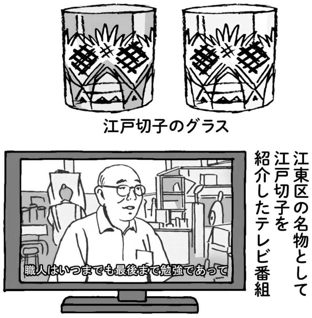 江戸切子のグラス・江戸切子を紹介したテレビ番組