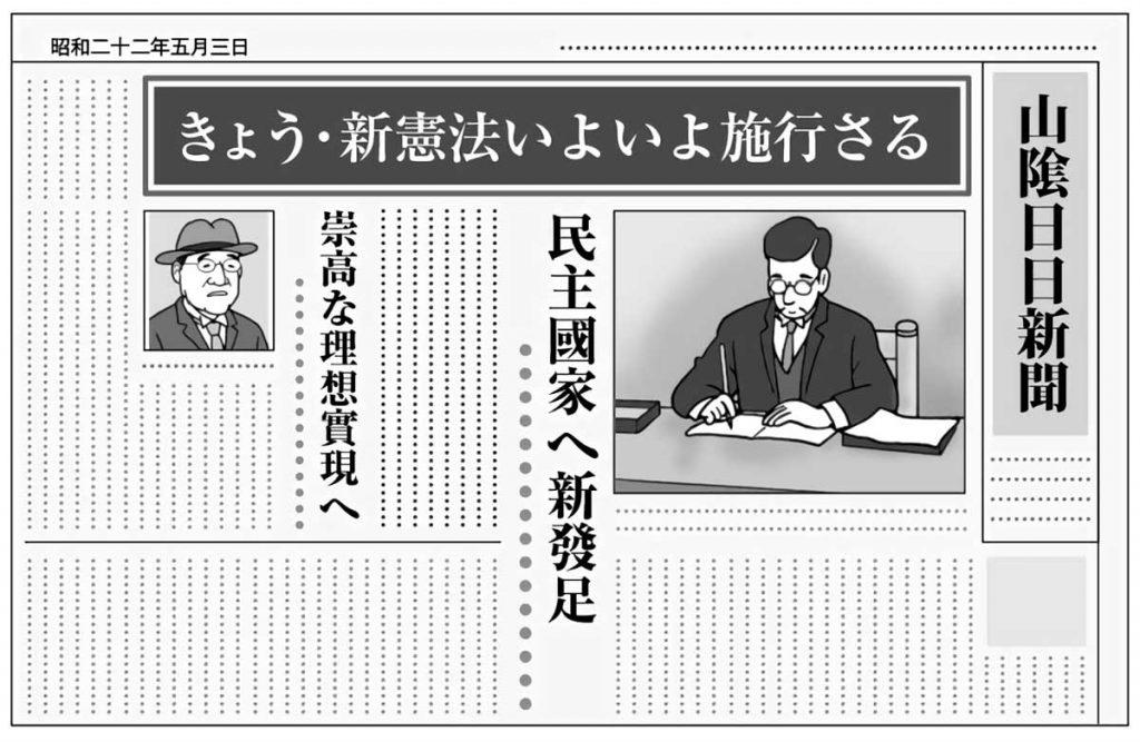 憲法に関する昔の新聞記事