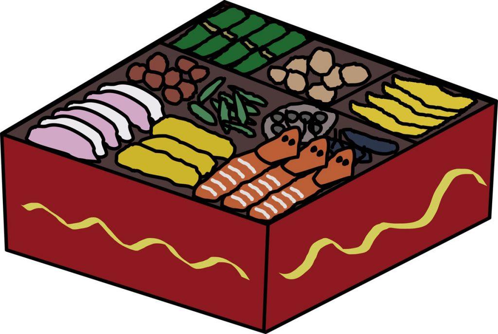 小3道徳「おせち料理を知っていますか?」指導アイデアのイメージイラスト