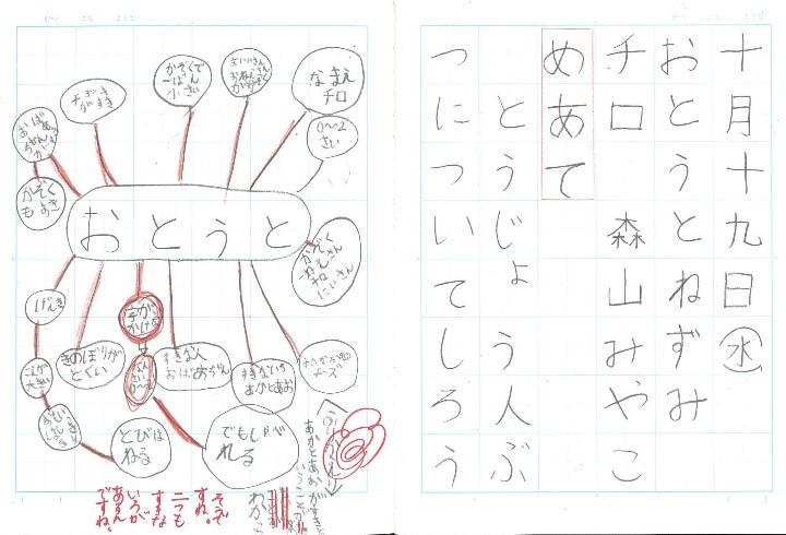 児童のノート