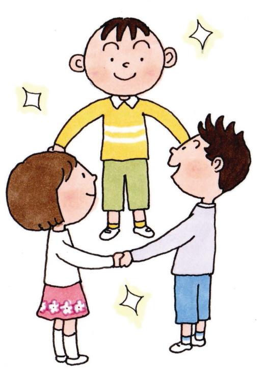 漢からの恩返し」の話を子供たちに伝えました
