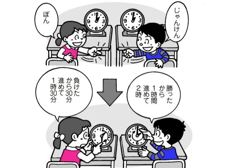時計を読む「時計じゃんけん」