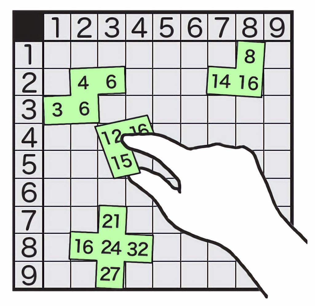 かけ算九九⑨「九九表パズル」