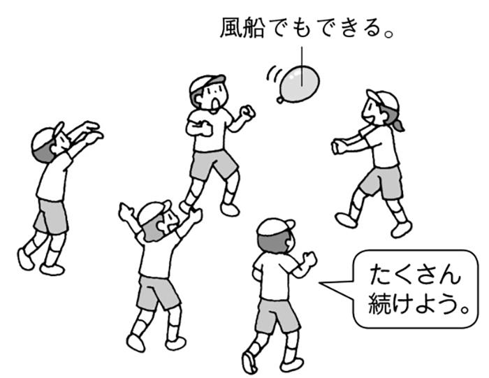 風船でもできるパスゲーム