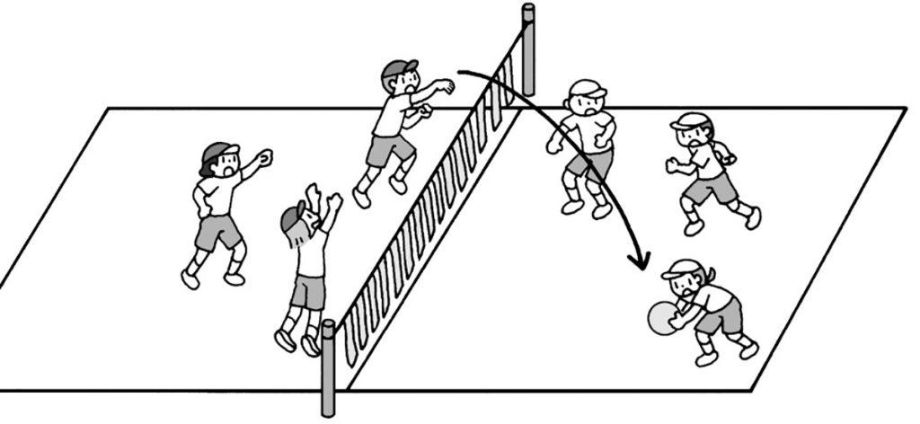 小6体育「ボール運動(ネット型)」指導のポイント
