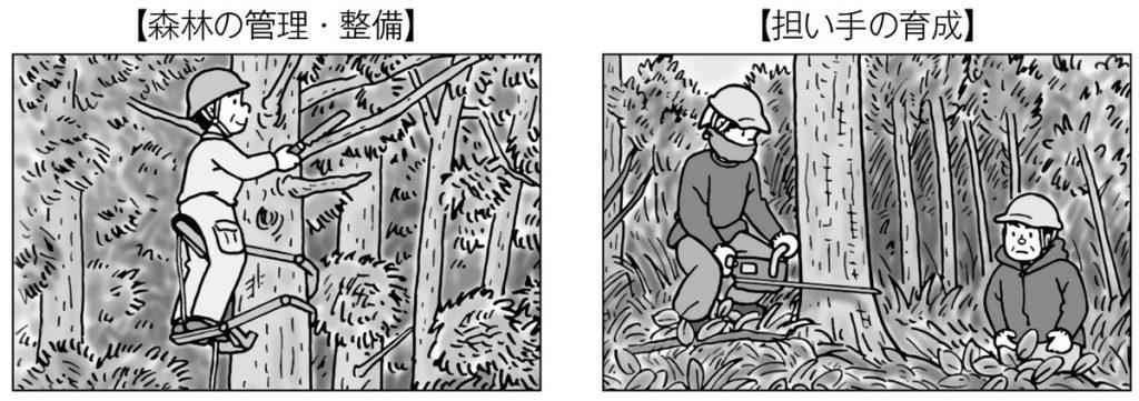 森林の管理・整備、担い手の育成