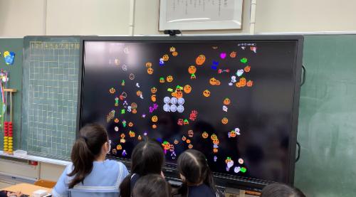 仙学園小学校のプログラミング授業の様子