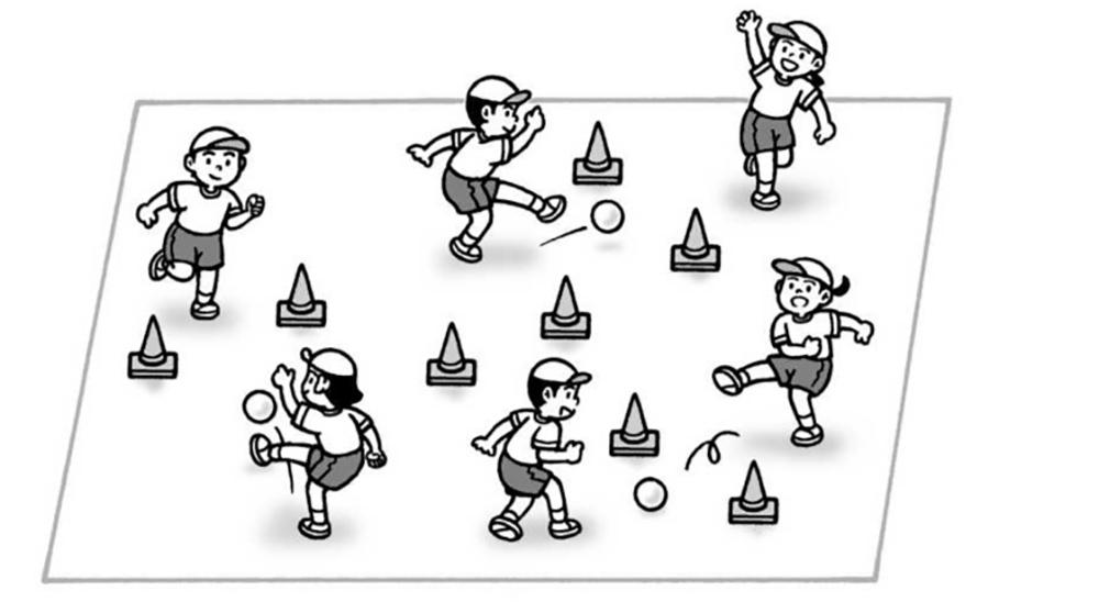 小4体育「グリッドサッカー(ゴール型ゲーム)」指導のポイント