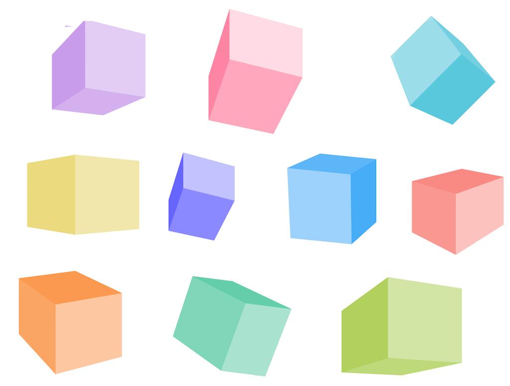 10個の六面体