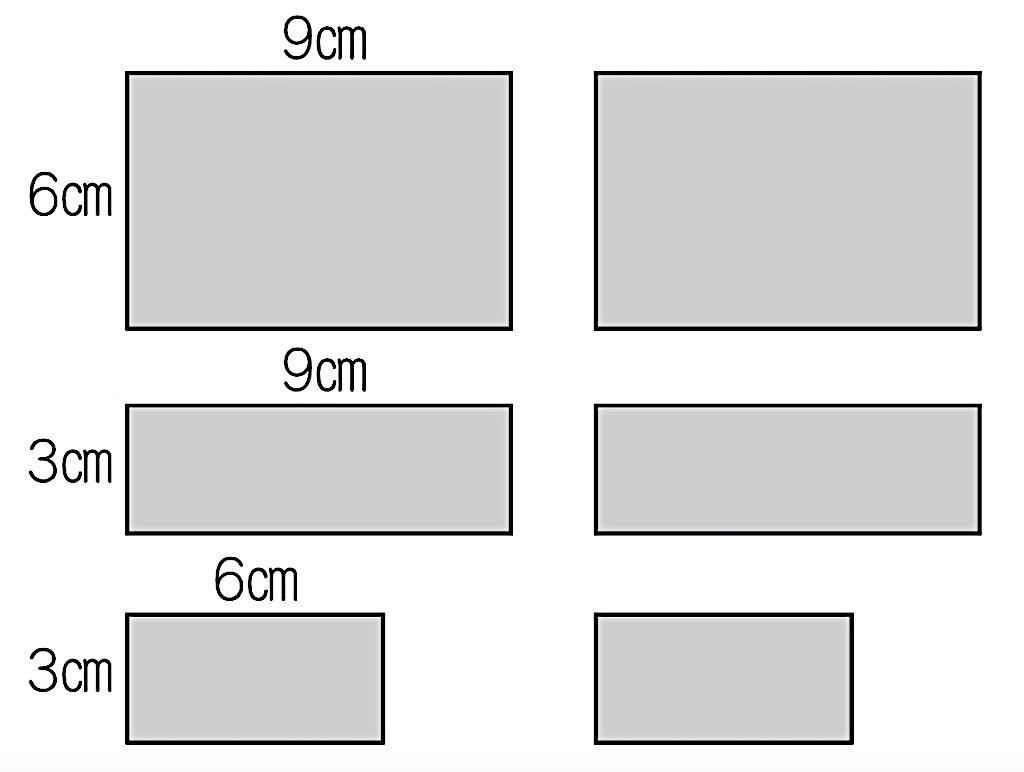 宝箱である長方体を構成する6つの面