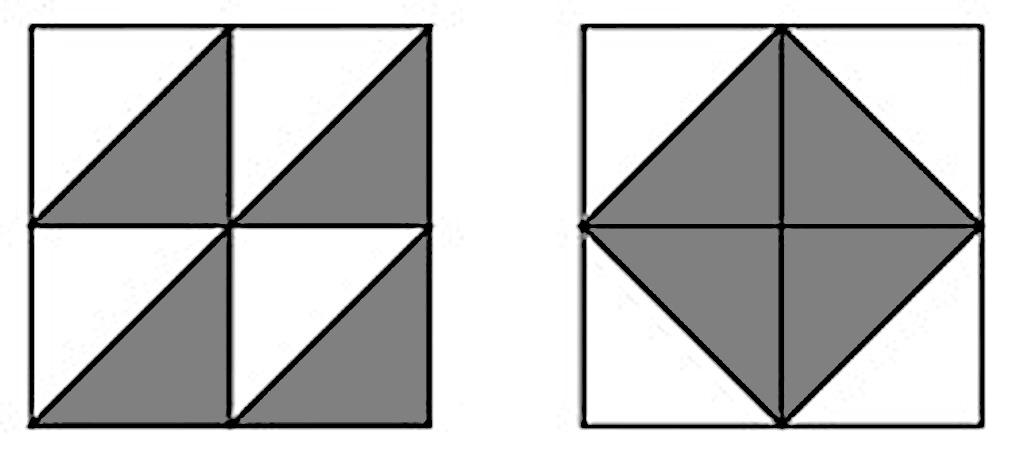 8枚の色板を用いてつくった真四角の形