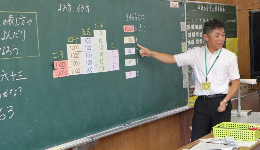 子供たちが問いをもち、自ら活動していったものを深い学びにつなげていく中西教諭。