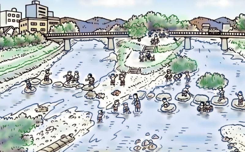 現在の鴨川(カラー写真で提示)