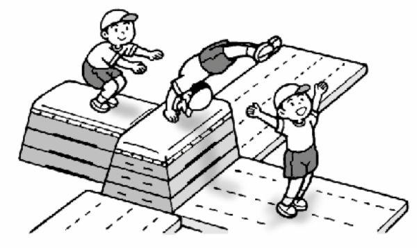 2台の跳び箱(同じ高さ)