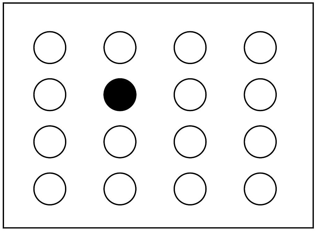 「上から2ばんめ 」「下から3ばんめ 」「左から2ばんめ」 「右から3ばんめ 」を示す図