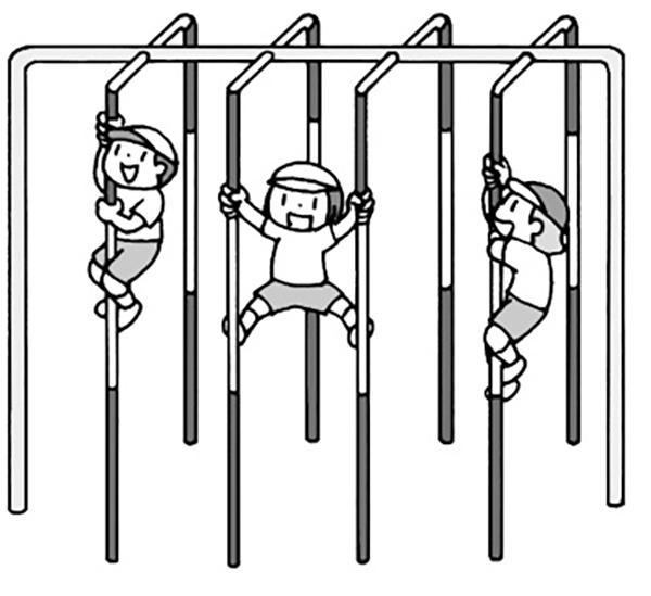 登り棒ゾーン