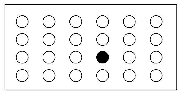 「下から2番目」もしくは「右から3番目」を示す図