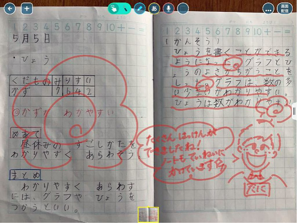 授業の記録(算数ノート)